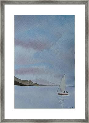 Sailing Framed Print by Liz Vernand