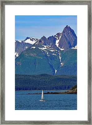 Framed Print featuring the photograph Sailing Lynn Canal by Cathy Mahnke