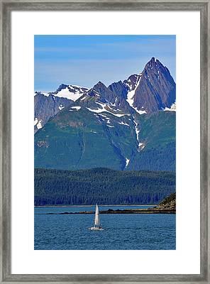 Sailing Lynn Canal Framed Print