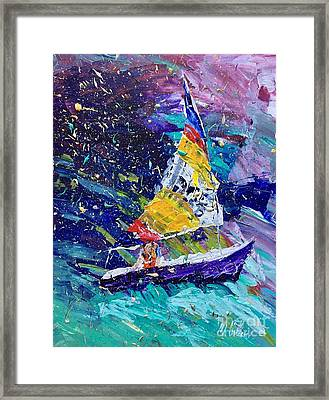 Sailing Magic Framed Print by Mary Cullen
