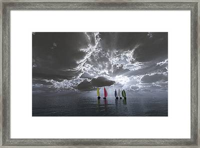 Sailing Framed Print by Margaret Wingstedt