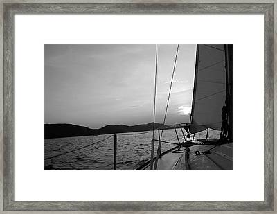 Sailing Framed Print by Maria Lopez