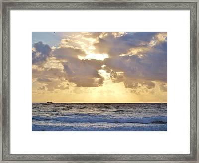 Sailing Motionless Framed Print by E Luiza Picciano