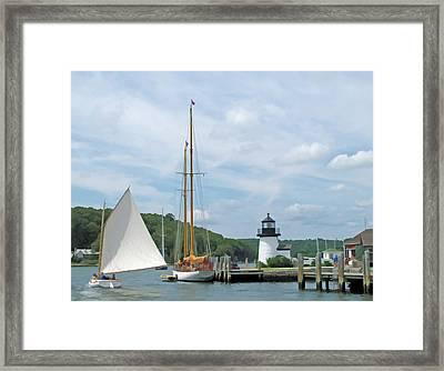 Sailing Mystic Framed Print by Barbara McDevitt