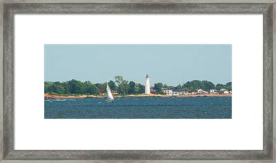 Framed Print featuring the photograph Sailing New Haven by Margie Avellino