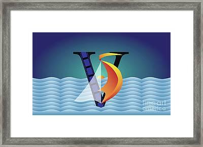Sailing No. 5 Framed Print by Joe Barsin