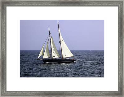 Sailing Off Of Martha's Vineayard Framed Print by Madeline Ellis