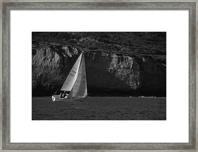 Sailing Off Southern California Framed Print