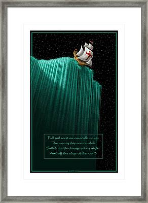 Sailing Off The Edge Of The World Framed Print