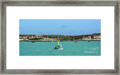 Sailing On A Sunny Day Framed Print by Stephan Grixti