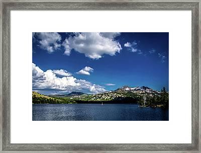 Sailing On Caples Lake Framed Print