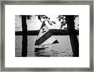 Sailing On Lake Dunmore No. 1-1 Framed Print