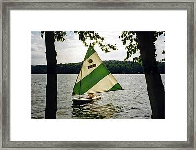 Sailing On Lake Dunmore No. 1 Framed Print