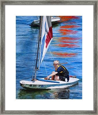 Sailing On Lake Thunderbird Framed Print by Joshua Martin