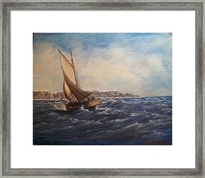 Sailing On Narragansett Bay Framed Print