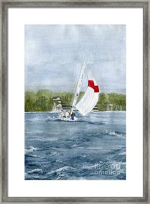 Framed Print featuring the painting Sailing On Niagara River by Melly Terpening