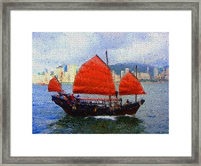 Sailing On The East Framed Print