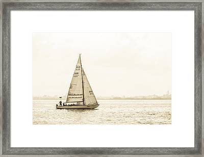 Sailing On The River Neva Framed Print