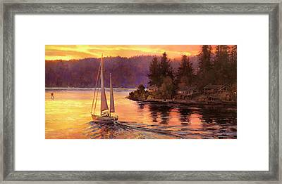 Sailing On The Sound Framed Print