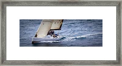Sailing On The Straits Framed Print by Sandy Buckley