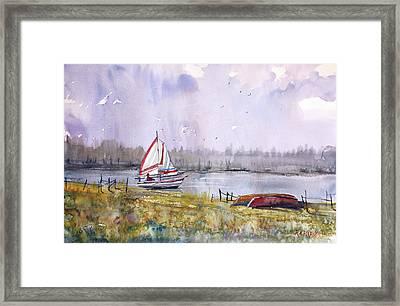 Sailing On White Sand Lake Framed Print by Ryan Radke