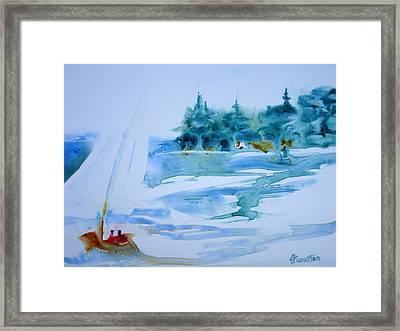 Sailing On Yupo Framed Print by Judy Fischer Walton