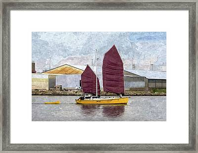 Sailing Out Of Baltimore - Paint Fx Framed Print