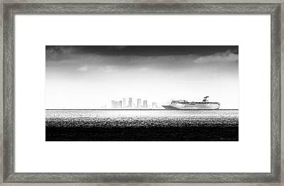 Sailing Out Of Cigar City Framed Print by Marvin Spates