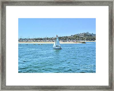 Sailing Out Of The Harbor Framed Print