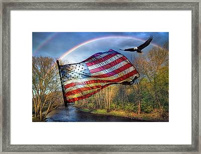Sailing Over The River Framed Print
