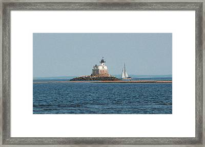 Sailing Penfield Lighthouse Framed Print
