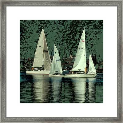 Framed Print featuring the photograph Sailing Reflections by David Patterson