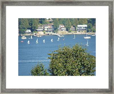 Framed Print featuring the painting Sailing by Rod Jellison