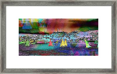 Sailing Sailboat Seascape Framed Print by Jean Francois Gil