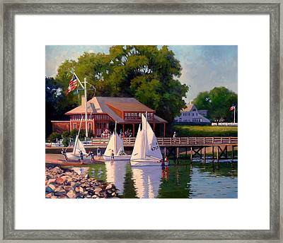 Sailing School Finale Framed Print