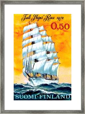 Sailing School Ship Framed Print by Lanjee Chee