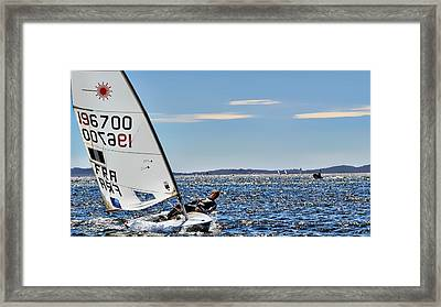 Sailing Ship  In Marseille Framed Print