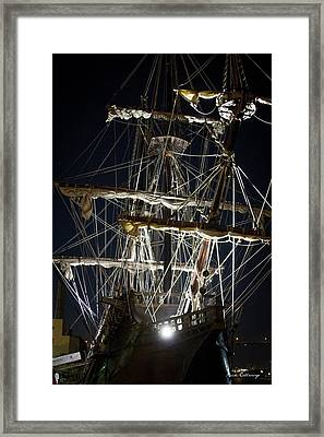 Savannah Sailing Ships Shipping Art Framed Print