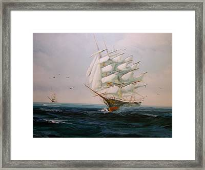Sailing Ships The Beauty Of The Sea Framed Print by Robert E Gebler