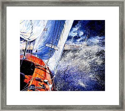 Sailing Souls Framed Print