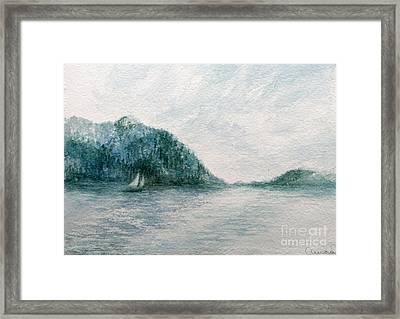 Sailing Sound 2 Framed Print by Aurora Jenson