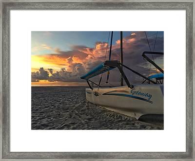 Sailing Still Framed Print