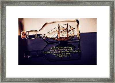 Sailing Takes Me Away Framed Print by Malisa Brannon