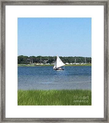 Sailing The Cape Framed Print