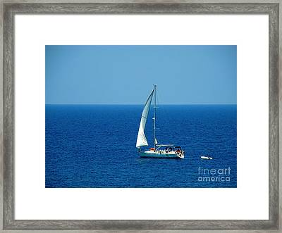 Sailing The Deep Blue Sea Framed Print by Sue Melvin