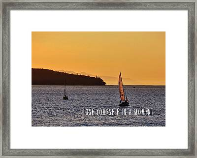 Sailing The English Bay Quote Framed Print by JAMART Photography