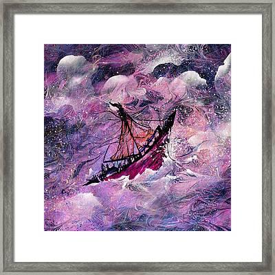 Sailing The Heavens Framed Print by Rachel Christine Nowicki