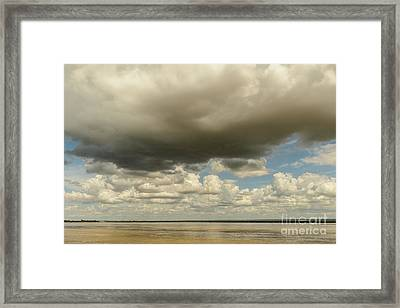 Sailing The Irrawaddy Framed Print