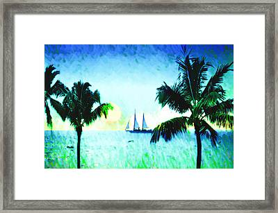 Sailing The Keys Framed Print by Bill Cannon