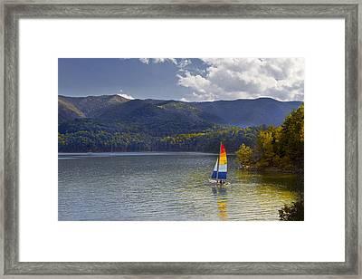 Sailing The Mountain Lakes Framed Print